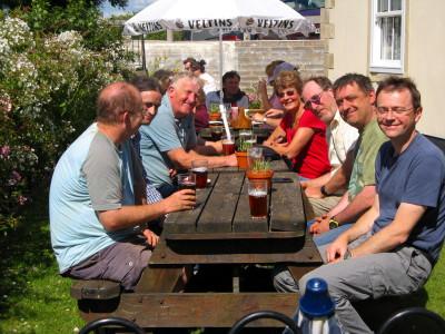 Post trip pint at the Quarrymans Arms