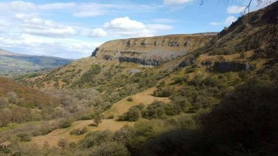 The Llangattock Escarpment looking back from Agen Allwedd - Photo by Alex Gledhill