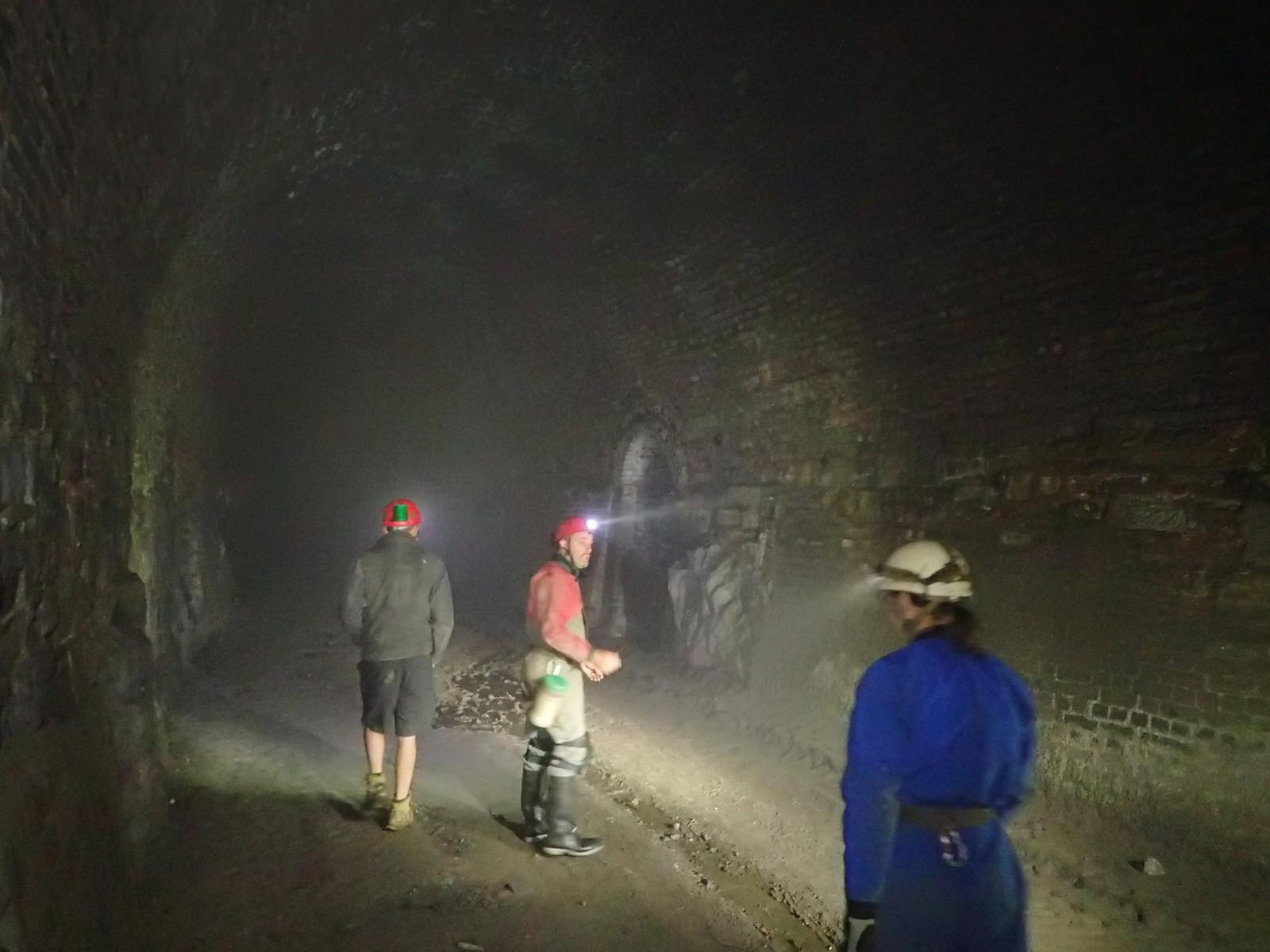 Start of tunnel was misty