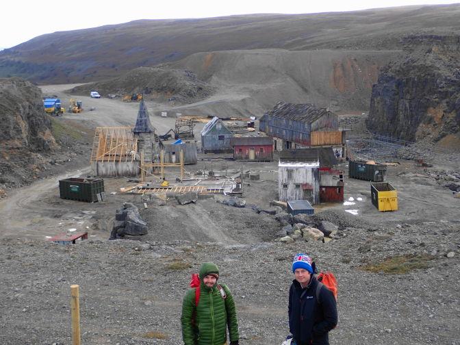 Film set in Blaen Onneu Quarry
