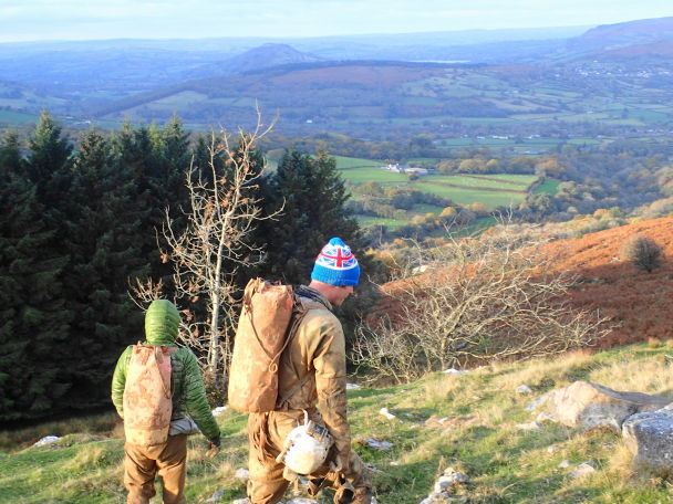 Looking into the Usk Valley